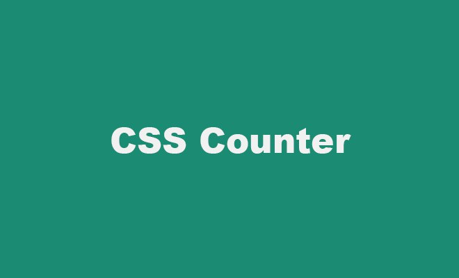 CSS counter-increment