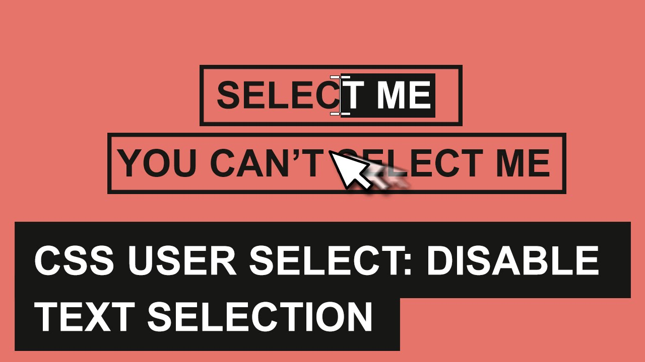 User select css
