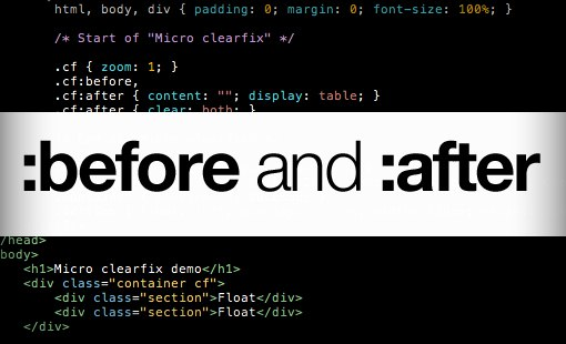 CSS before after